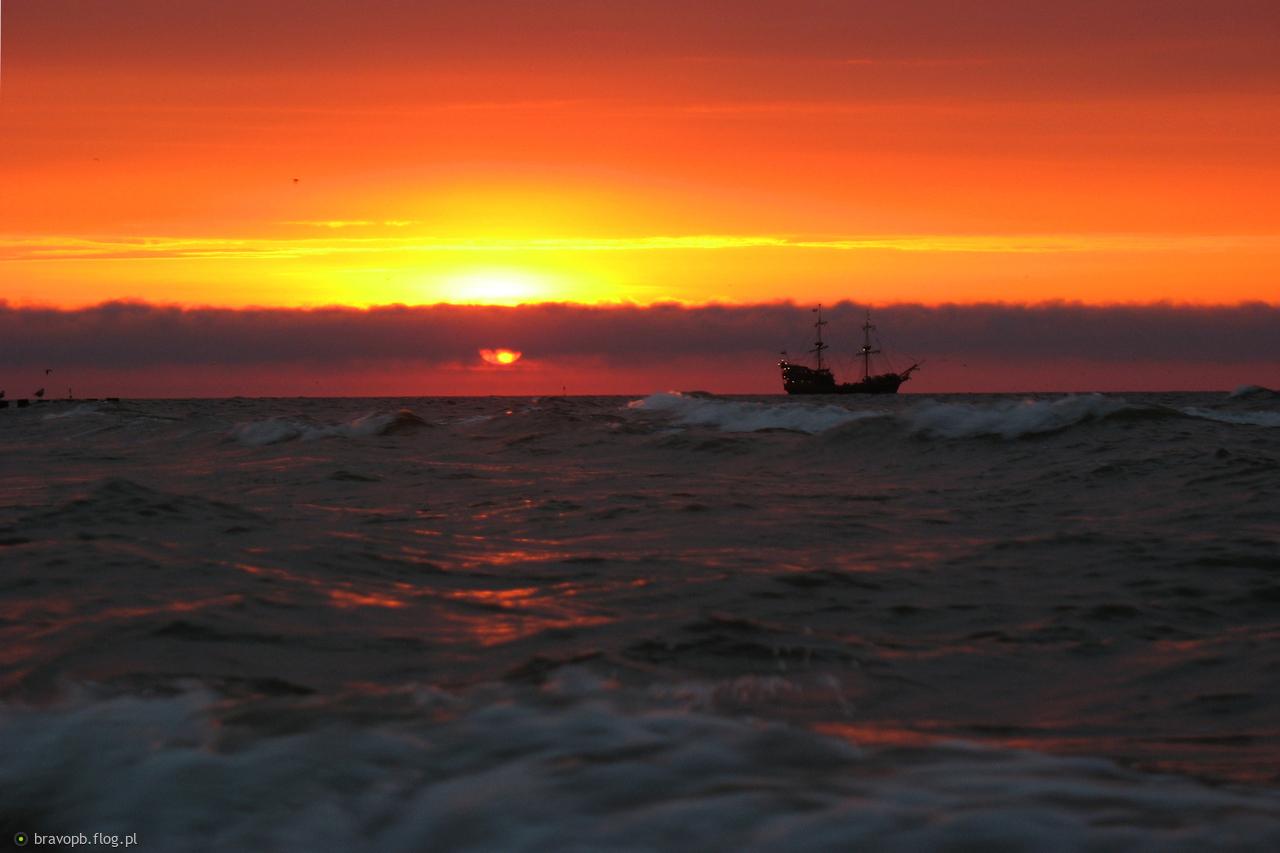 Zachód słońca - Ustka #2