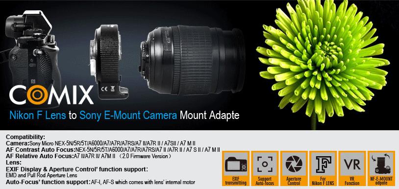 Adapter Nikon F / Sony E