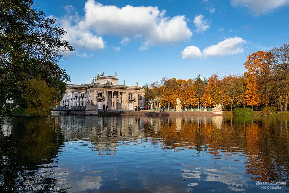 Pałac Na Wodzie łazienki Królewskie W Warszawie Fotoblog
